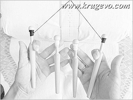 Постановка рук при плетении насновки