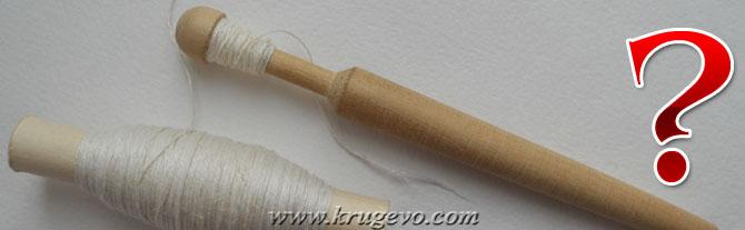 Как высчитать длину нитки при её намотке на коклюшки?