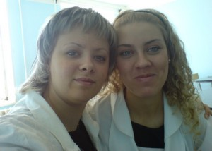 В Академии с подругой. 2005 год.