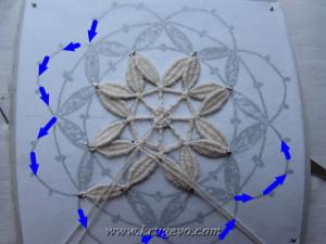 Плетение снежинки с насновками