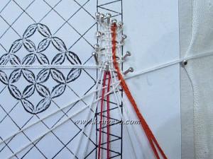 Первый вариант введения пары в плетение