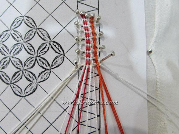 Первый вариант выведения пары из плетения