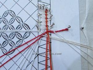 Второй вариант введения пары в плетение