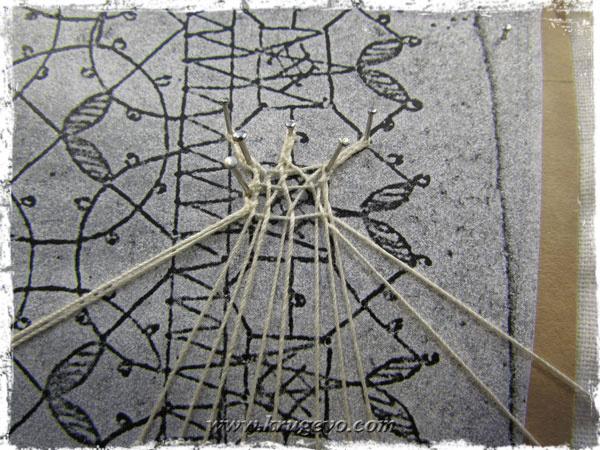 Плетение сетки в денежке