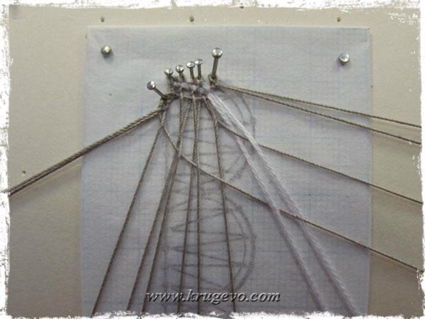 Со сканью сплетаемся простой полотнянкой