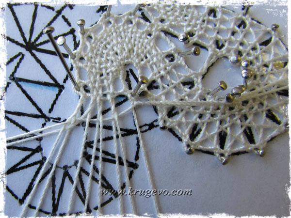 Плетение вилюшки сеткой